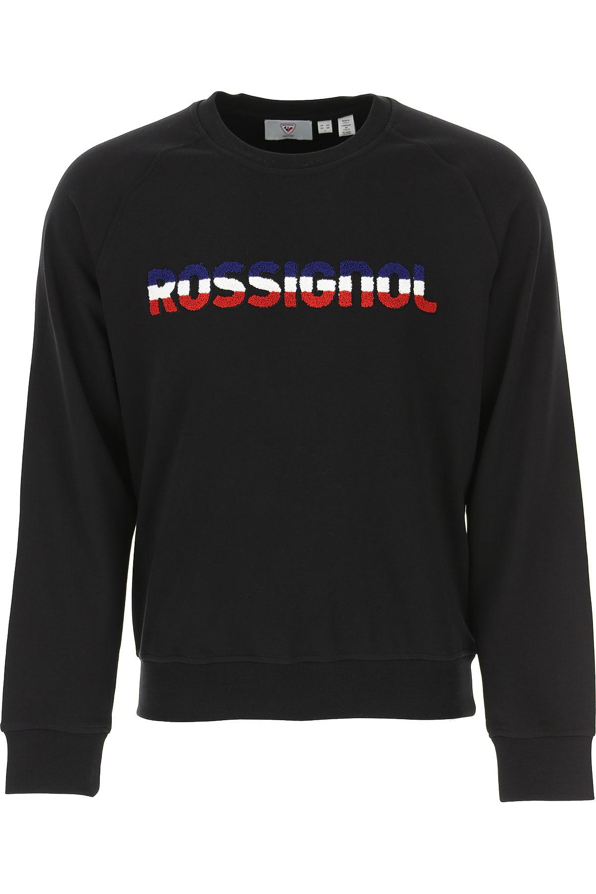 Rossignol Sweatshirt for Men On Sale, Black, Cotton, 2019, M XL