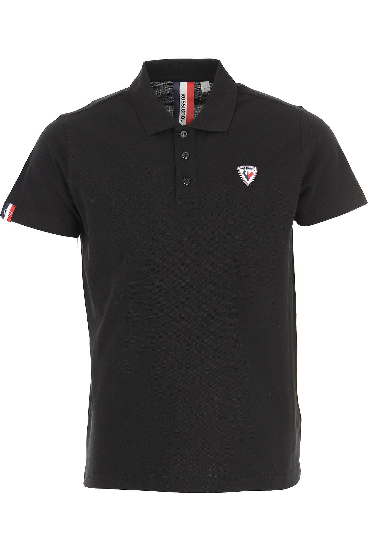 Rossignol Polo Shirt for Men On Sale, Black, Cotton, 2019, L M S XL