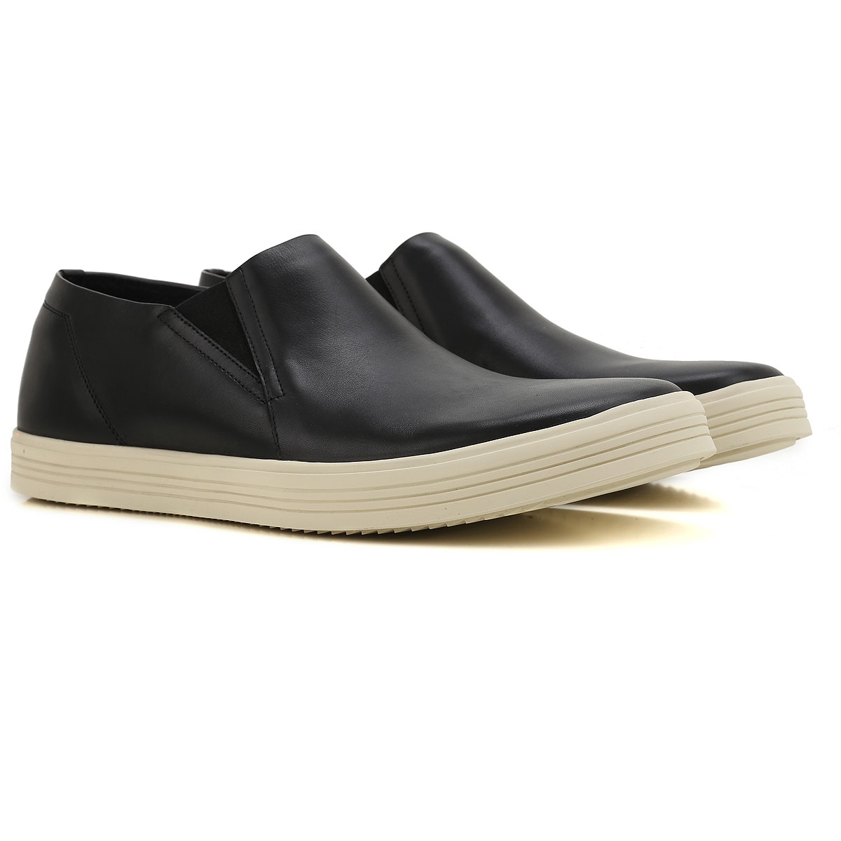 Rick Owens Slip on Sneakers for Men On Sale in Outlet, Black, Leather, 2019, 6.5 7.75