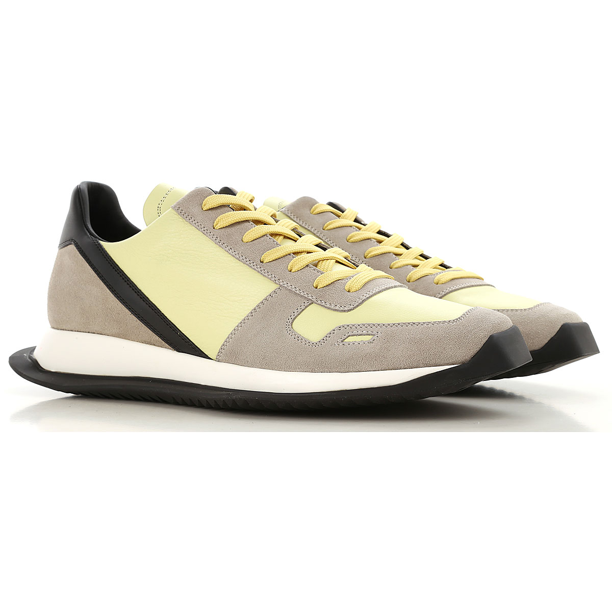 Rick Owens Sneakers for Men On Sale in Outlet, Lime, Leather, 2019, 10 10.5 6.5 7.5 7.75 8.5 9 9.5