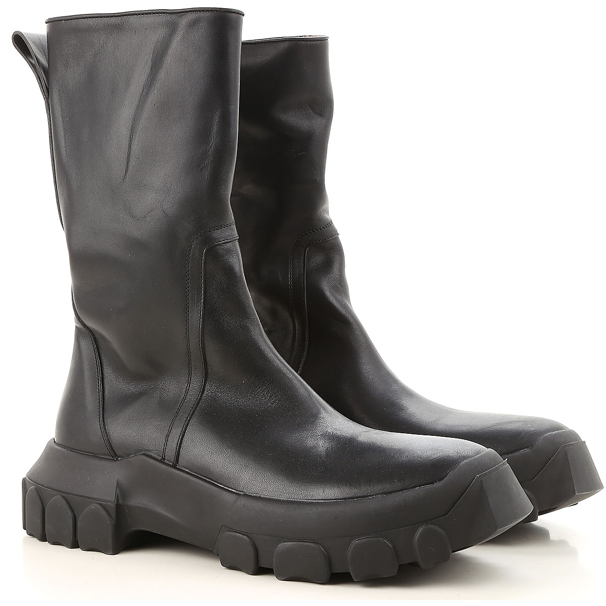 Image of Rick Owens Boots for Men, Booties, Black, Leather, 2017, 10 10.5 7.5 7.75