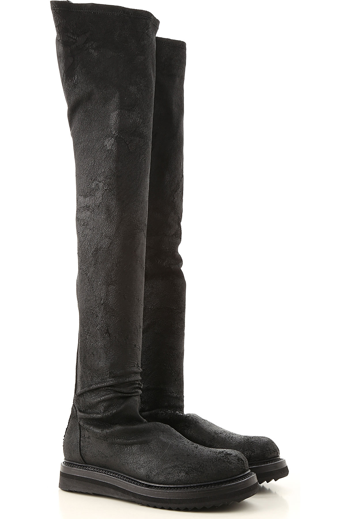 Image of Rick Owens Boots for Women, Booties, Black, Suede leather, 2017, 10 6 7 8 9