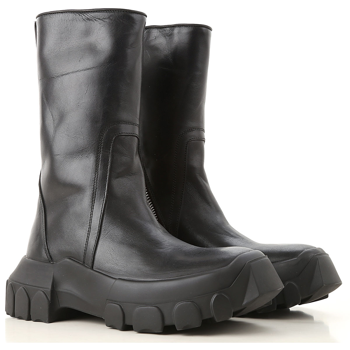 Image of Rick Owens Boots for Women, Booties, Black, Leather, 2017, 10 5 6 6.5 7 8 9