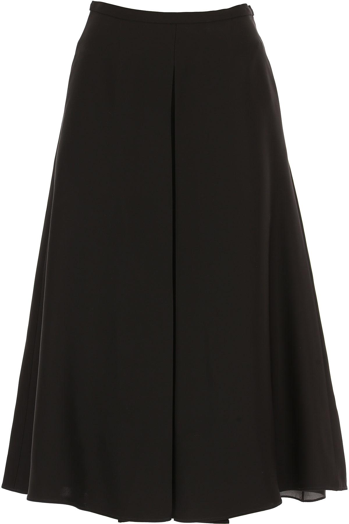 Image of Rochas Skirt for Women On Sale, Black, Viscose, 2017, 26 28
