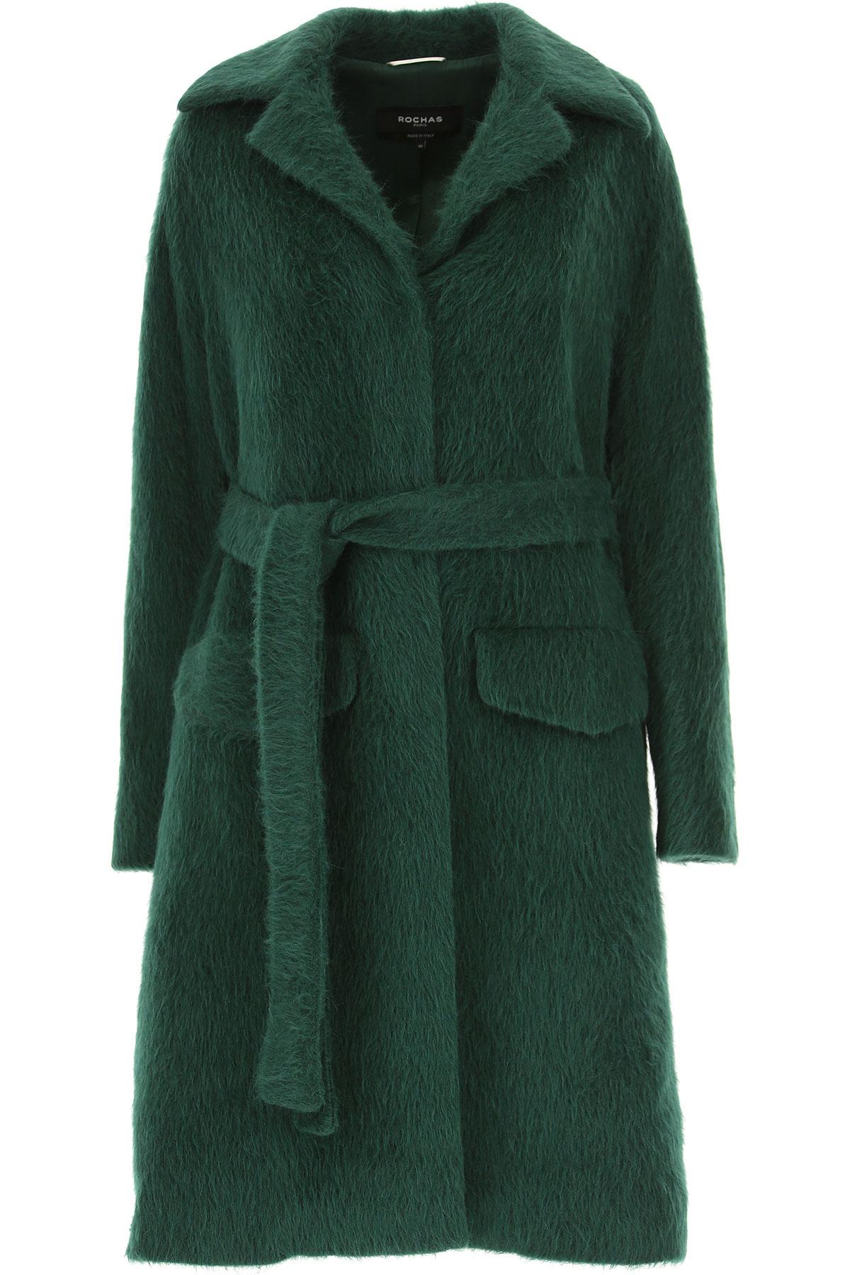 Image of Rochas Women\'s Coat, Bottle Green, alpaca, 2017, UK 8 - US 6 - EU 40 UK 10 - US 8 - EU 42