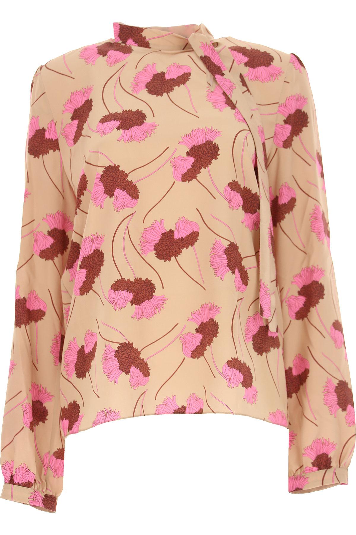 Image of Rochas Shirt for Women, Camel, Silk, 2017, USA 10 -- IT 44 UK 10 - US 8 - EU 42