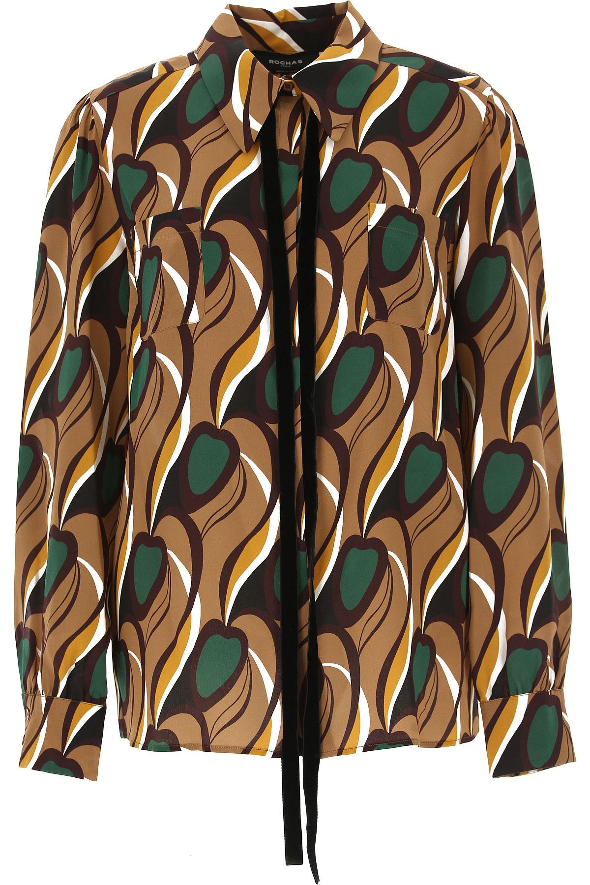 Image of Rochas Shirt for Women, nut, Silk, 2017, USA 10 -- IT 44 UK 10 - US 8 - EU 42