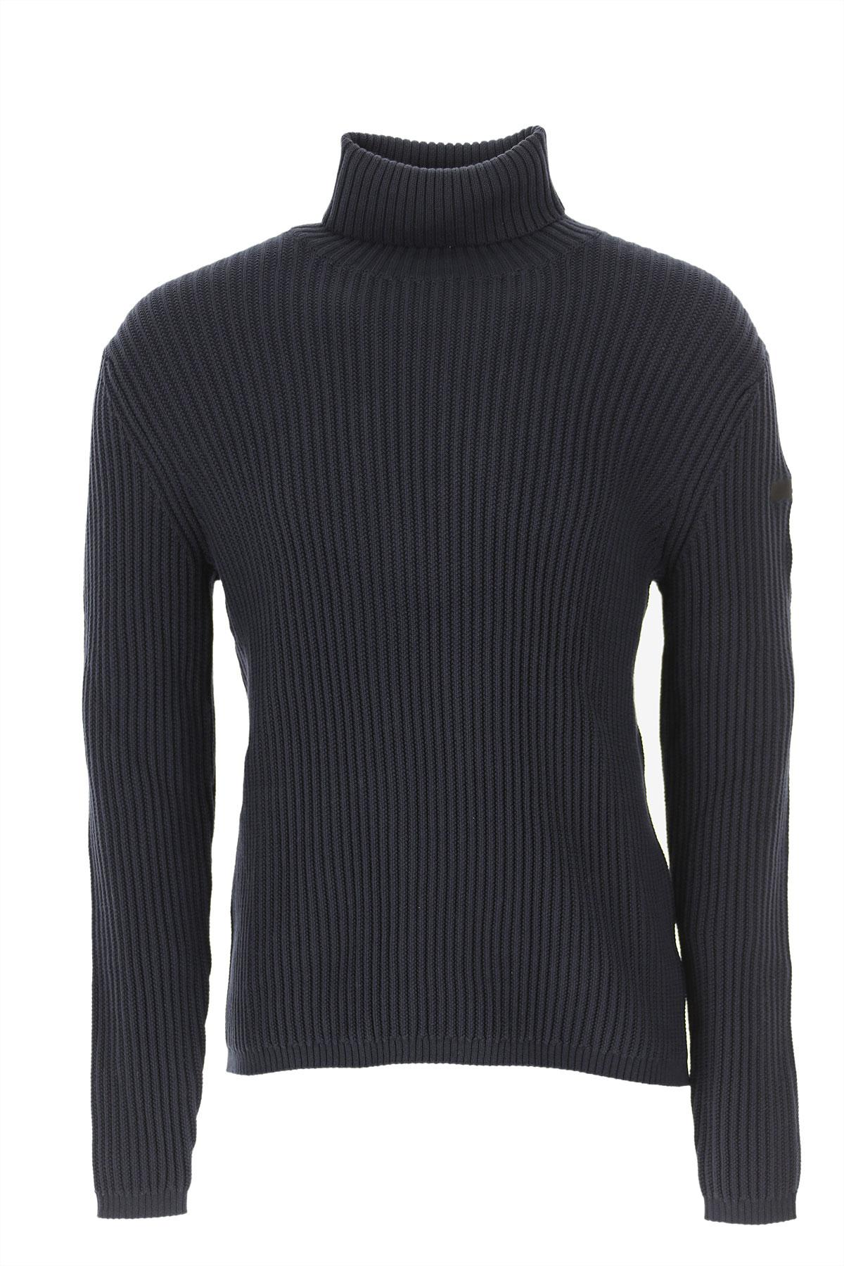 RRD Sweater for Men Jumper On Sale, Midnight Blue, Cotton, 2019, L M