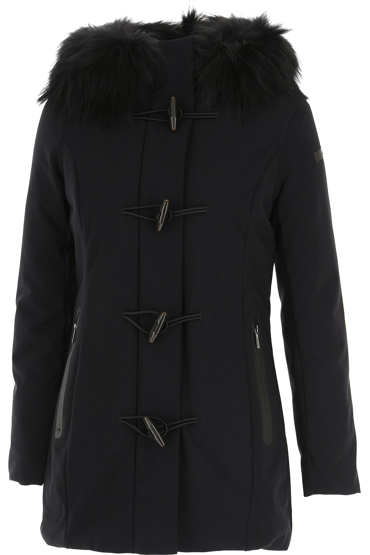 RRD Down Jacket for Women, Puffer Ski Jacket On Sale, Black, Down, 2019, 4 6 8