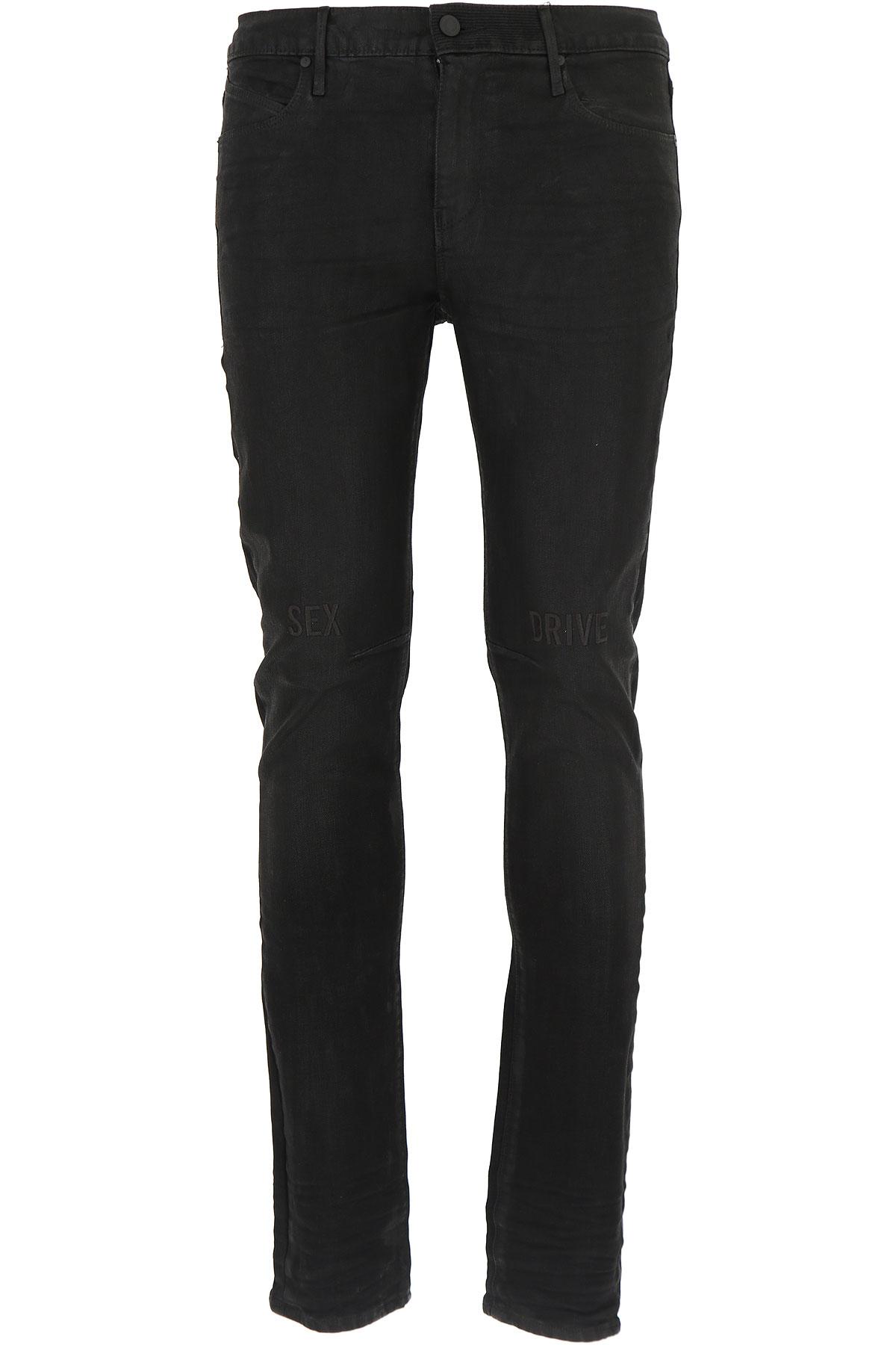 Image of RtA Jeans, Black, Cotton, 2017, US 29 - EU 45 US 30 - EU 46 US 31 - EU 47 US 32 - EU 48 US 33 - EU 49 US 34 - EU 50