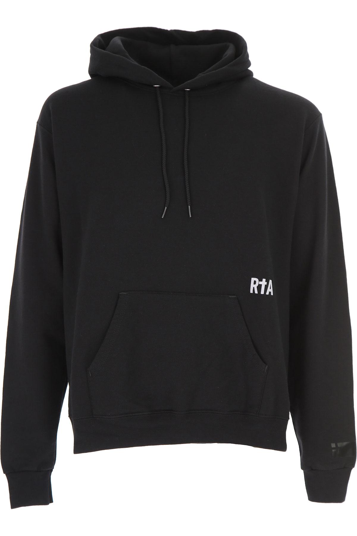 Image of RtA Sweatshirt for Men, Black, Cotton, 2017, L M S XL