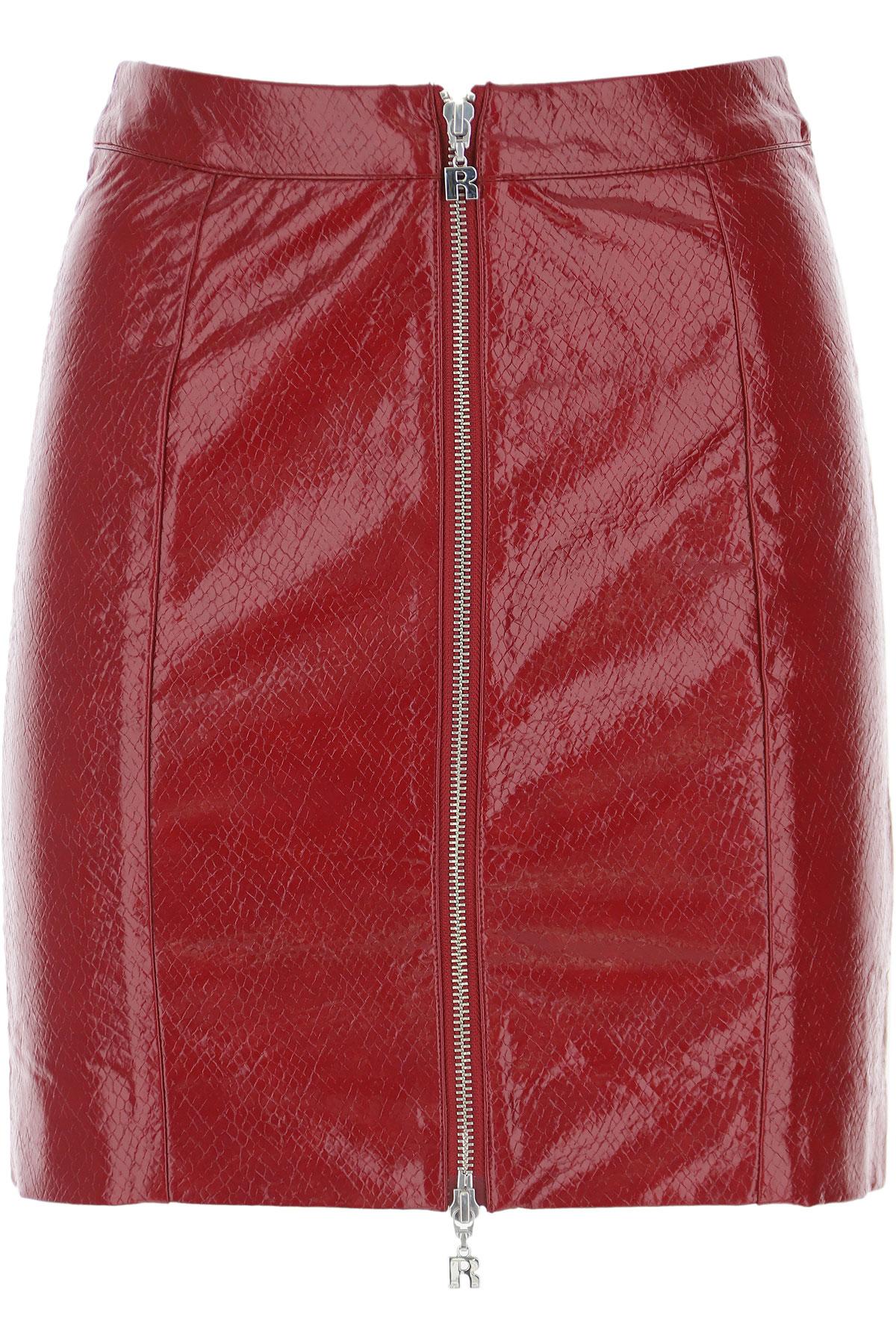 Rotate Skirt For Women, Red, Polyurethane, 2021, XS (IT 38) EU 32 - IT 36 EU 34 - IT 38