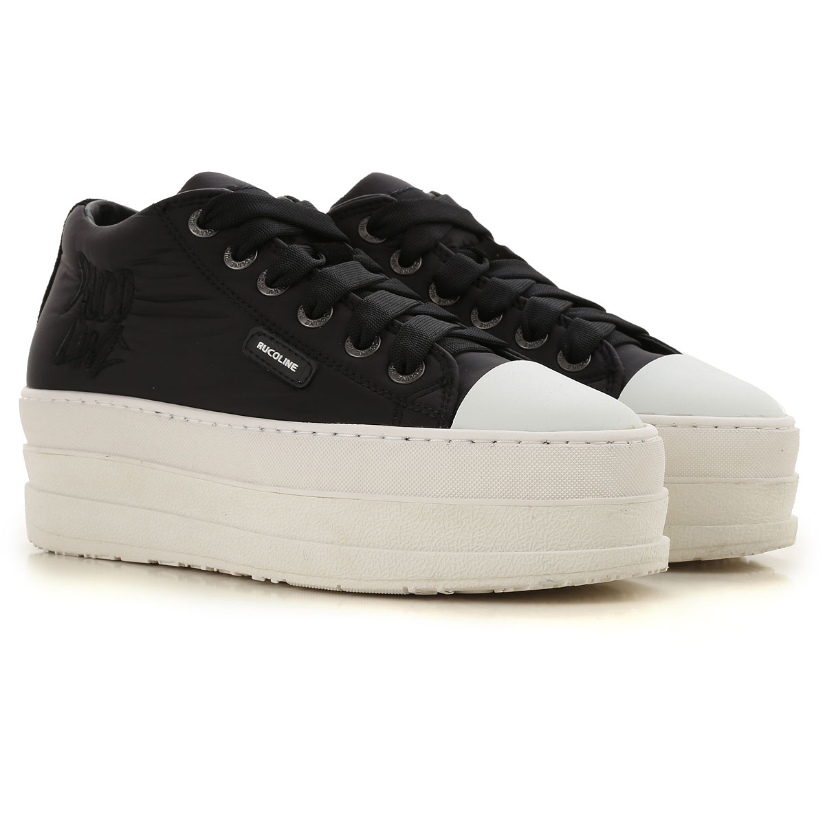Image of Ruco Line Sneakers for Women, Black, Nylon, 2017, 10 5 6