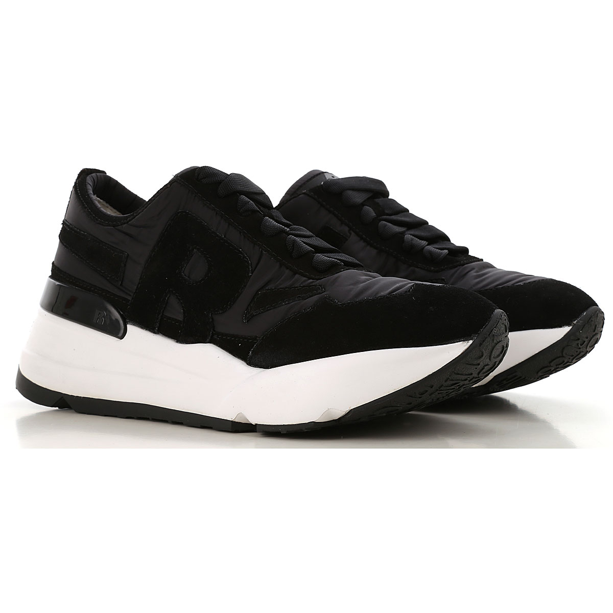 Image of Ruco Line Sneakers for Women, Black, Nylon, 2017, 5 6 7 8 9