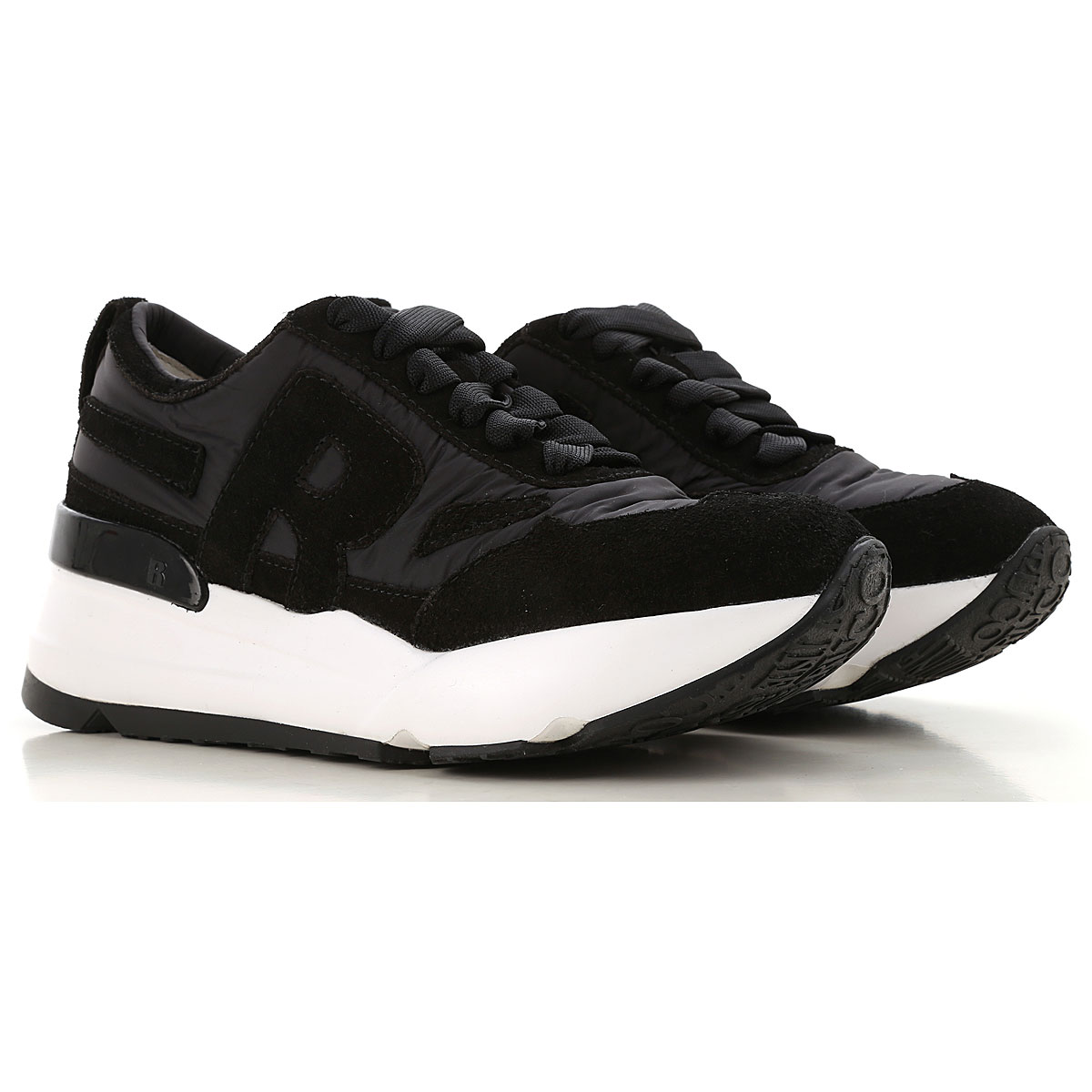 Image of Ruco Line Sneakers for Women, Black, Nylon, 2017, 10 6 7 8