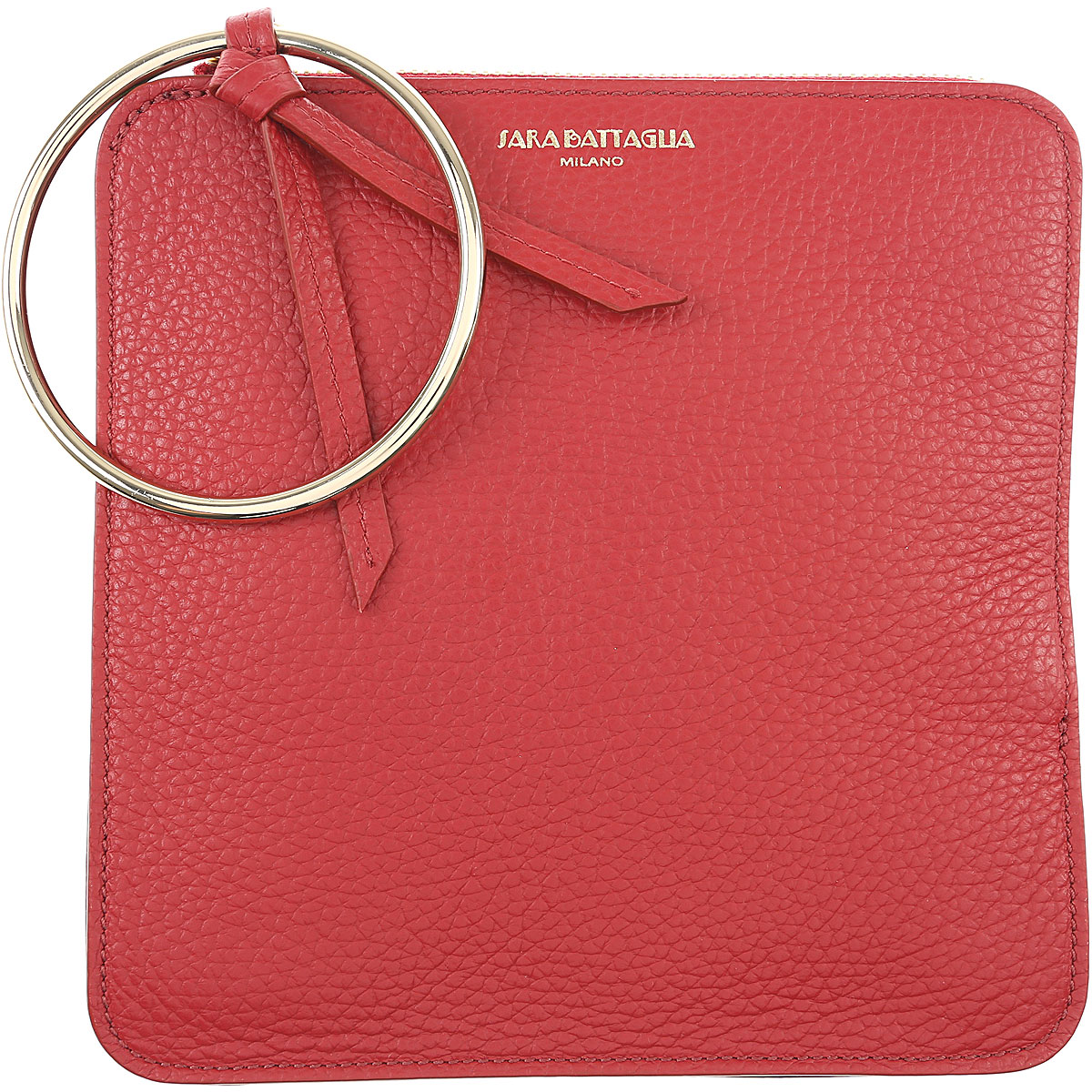 Image of Sara Battaglia Women\'s Pouch, Red, Leather, 2017
