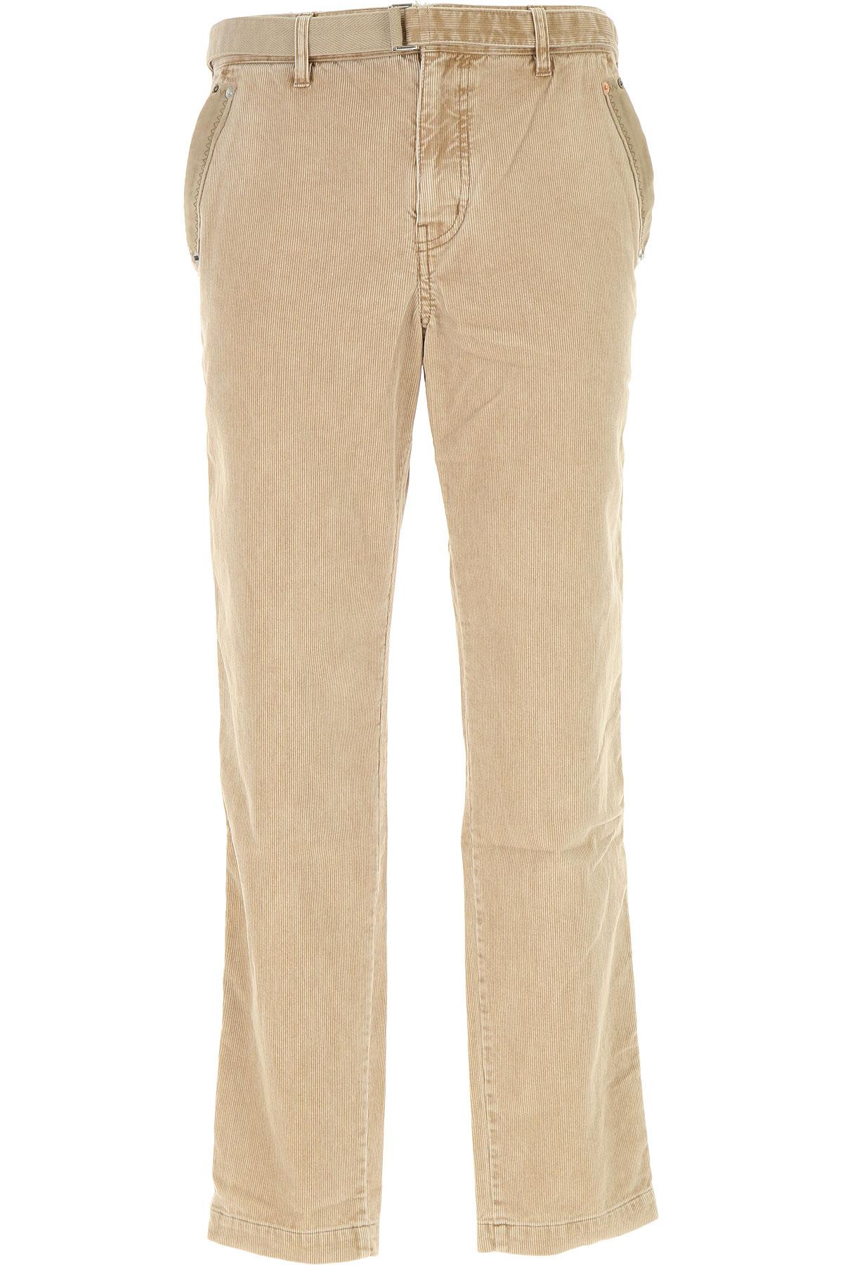 Image of Sacai Pants for Men, Beige, Cotton, 2017, 30 32 34 36