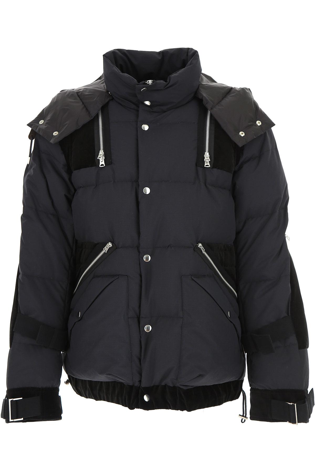 Image of Sacai Down Jacket for Men, Puffer Ski Jacket, Black, polyamide, 2017, L M XL