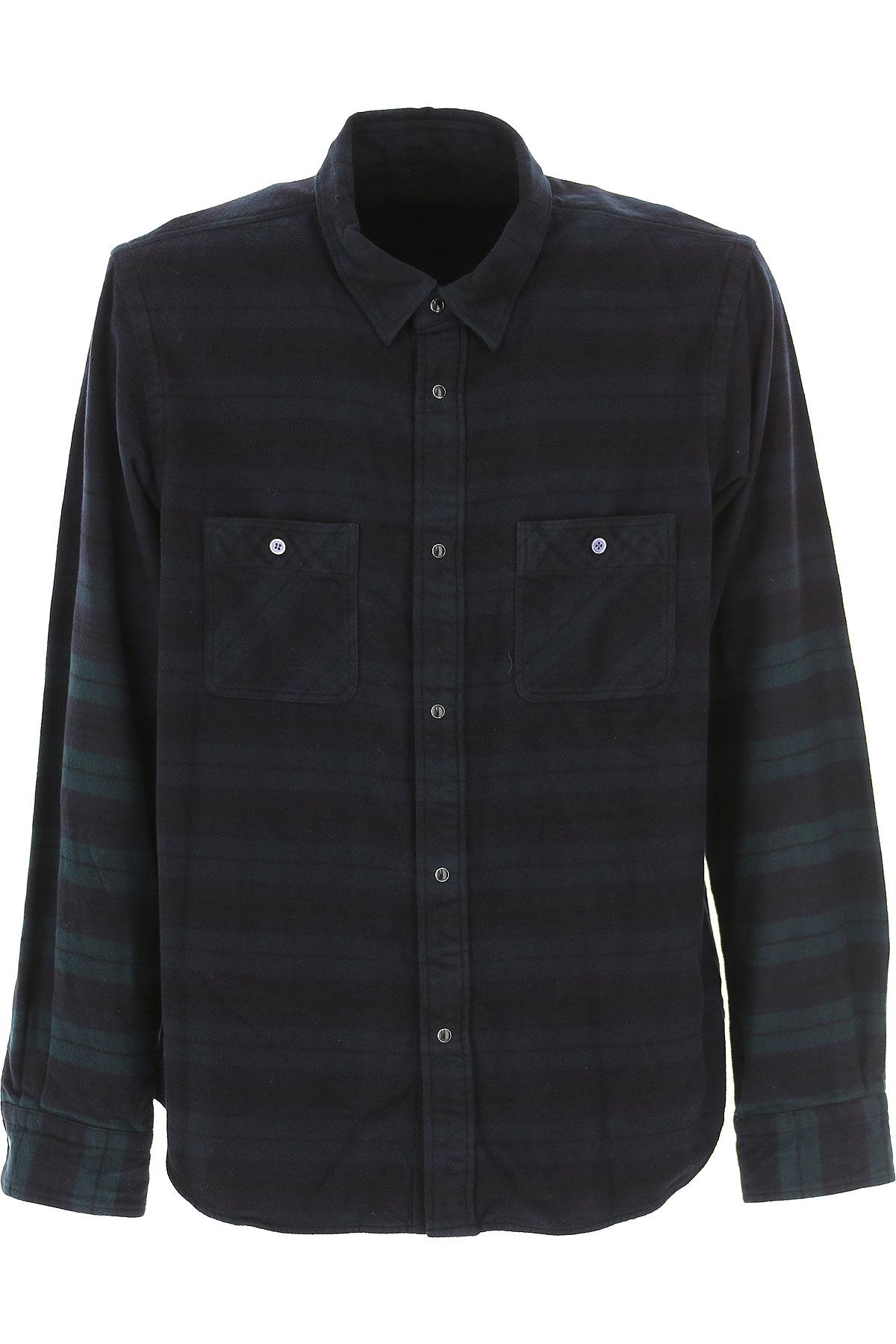 Image of Sacai Shirt for Men, Dark Midnight Blue, Cotton, 2017, L M S XL