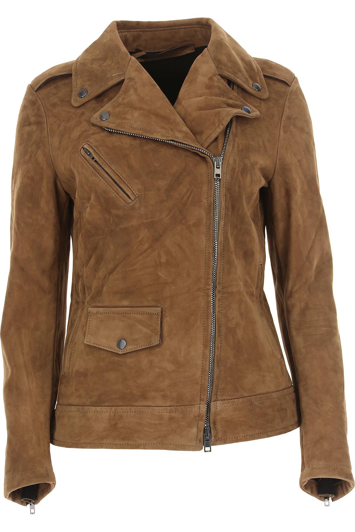 Image of Salvatore Santoro Leather Jacket for Women, Biscuit, Leather, 2017, UK 10 - US 8 - EU 42 UK 12 - US 10 - EU 44