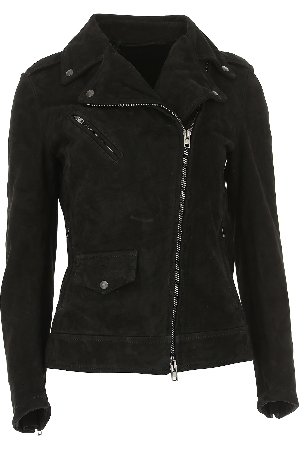 Image of Salvatore Santoro Leather Jacket for Women, Black, Leather, 2017, 10