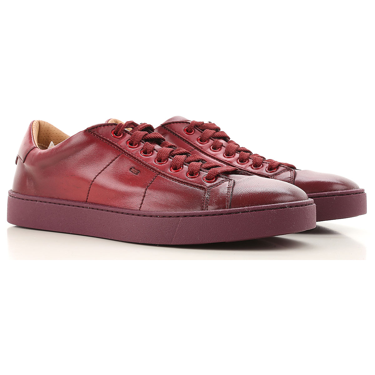 Santoni Sneakers for Men, Dark Red, Leather, 2019, 11 6 7.5
