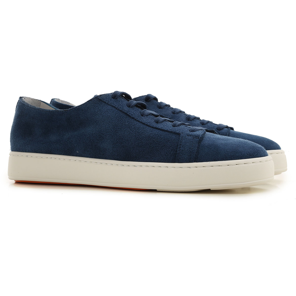Santoni Sneakers for Men On Sale, Bluette, Suede leather, 2019, 10 10.5 11 7 7.5 8 8.5 9