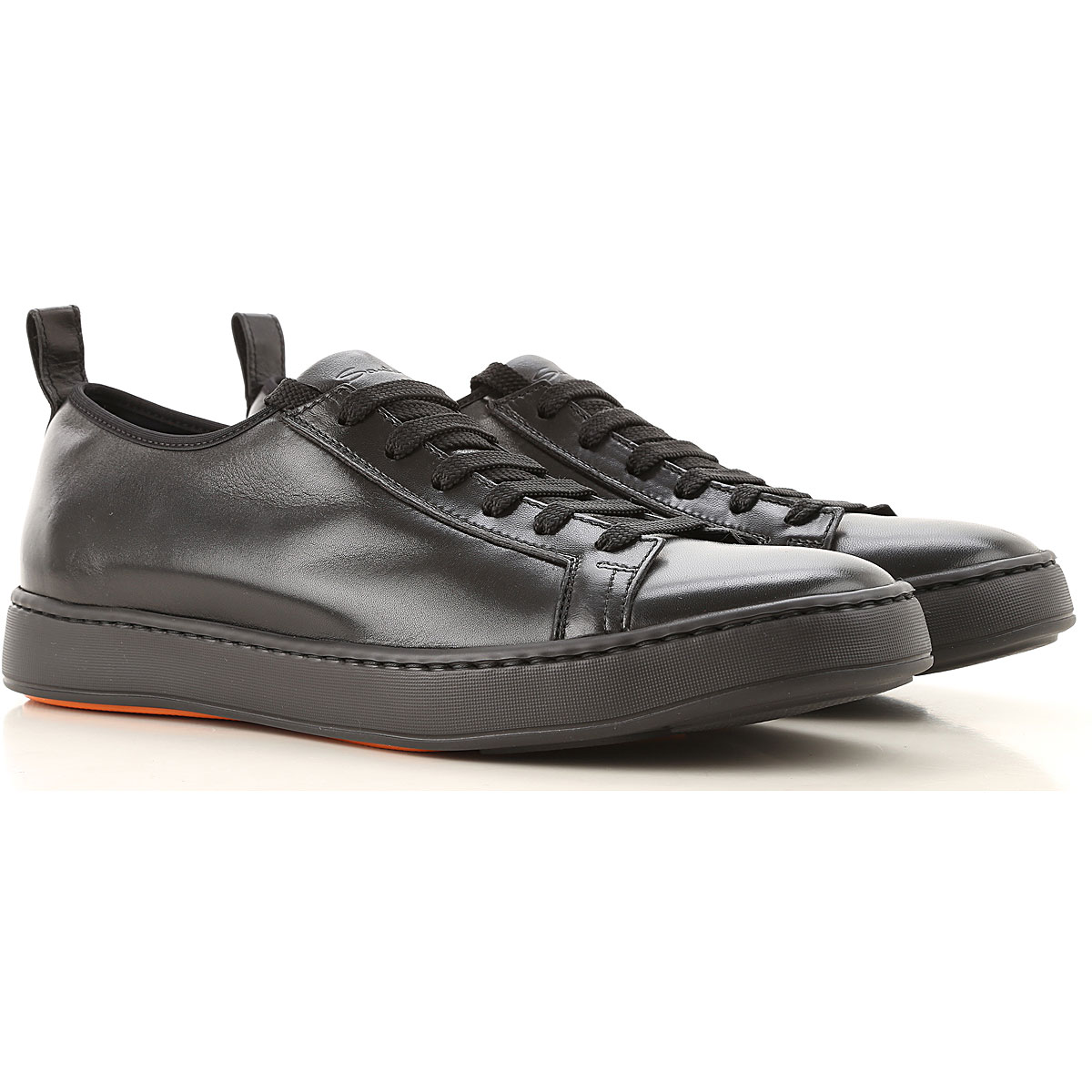 Santoni Sneakers for Men On Sale in Outlet, Black, Leather, 2019, 13 6