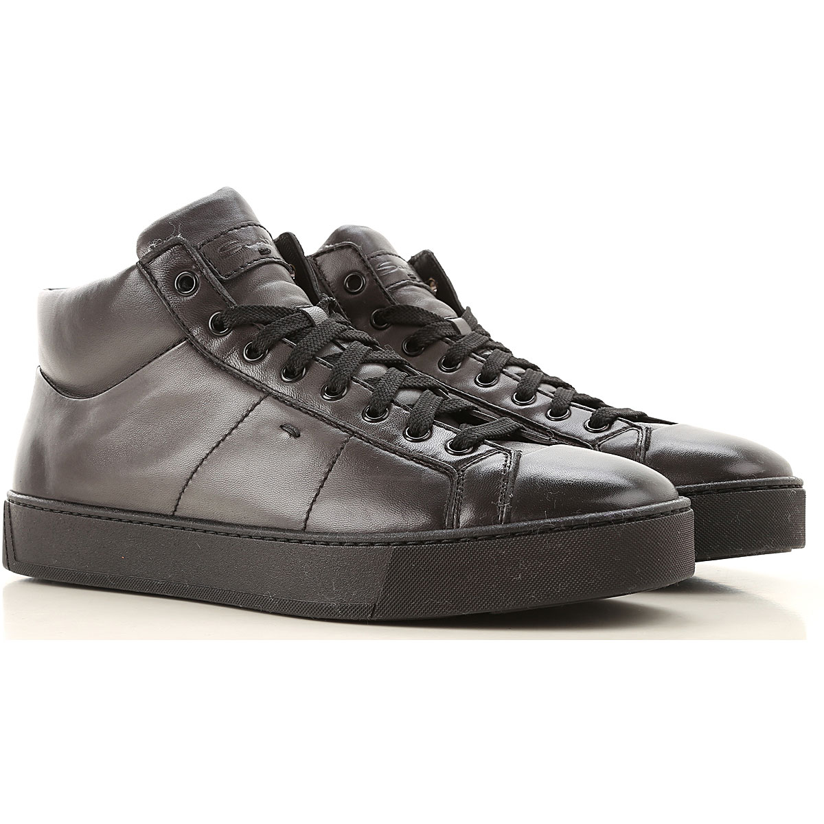 Santoni Sneakers for Men On Sale, Black Shaded, Leather, 2019, 11 8