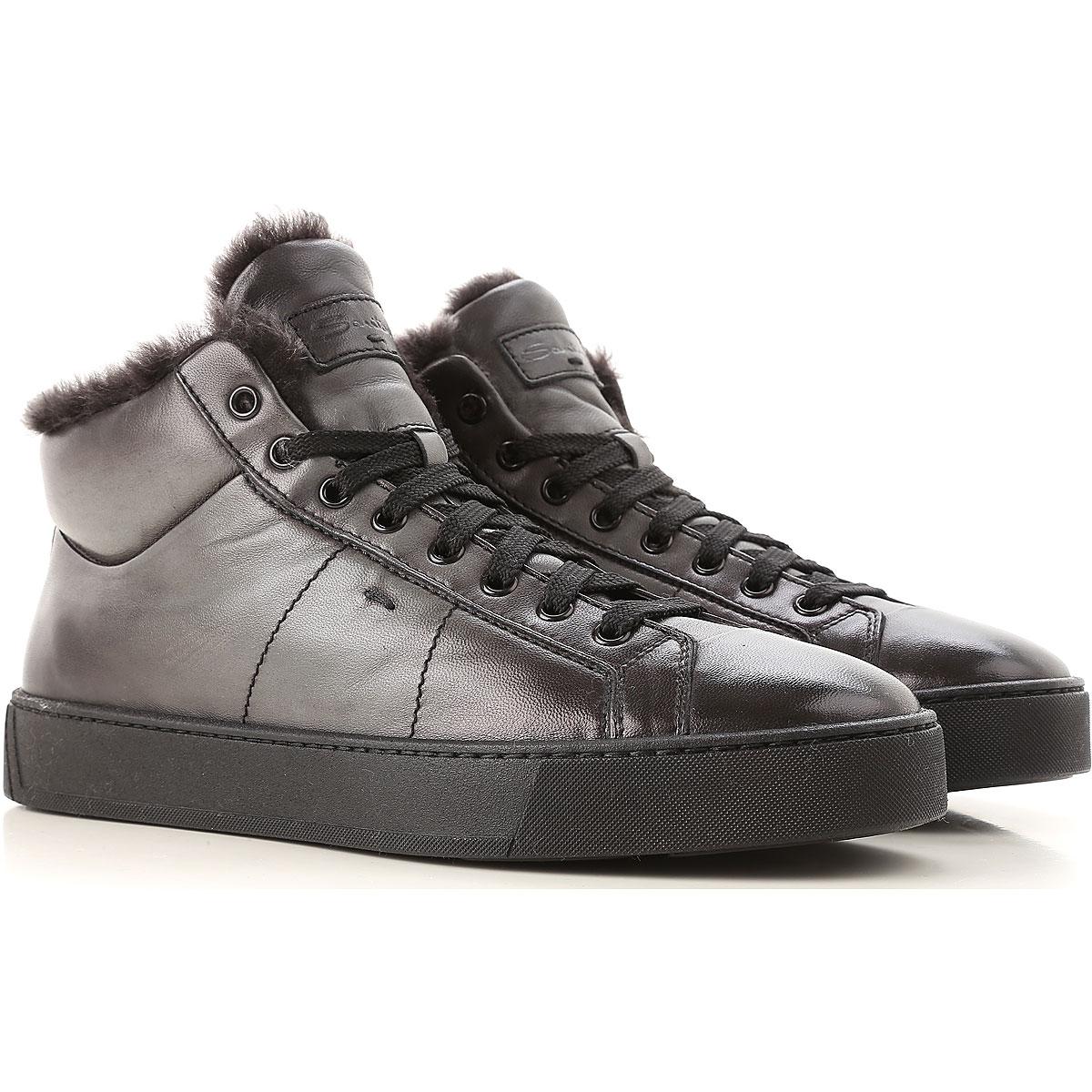 Image of Santoni Boots for Men, Booties, Dark Grey, Leather, 2017, 10 10.5 11 12 13 7 7.5 8 8.5
