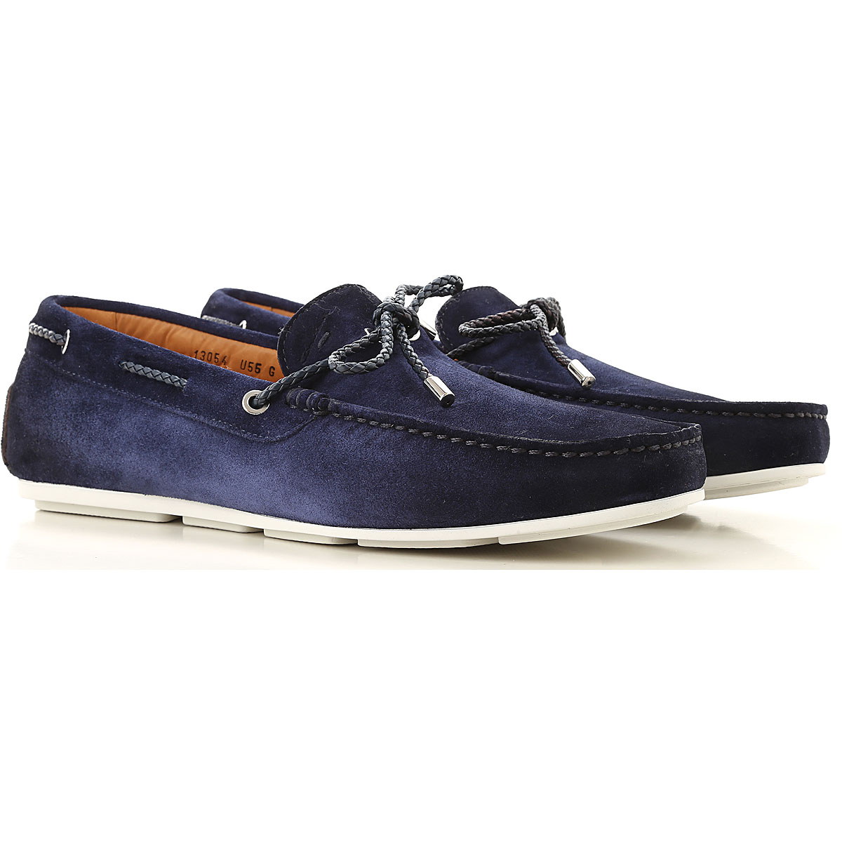 Santoni Loafers for Men, Midnight Blue, suede, 2019, 10 11 12 6 7 7.5 8 9
