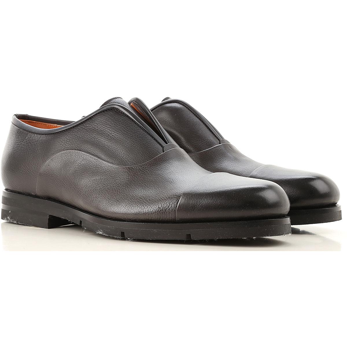 Santoni Loafers for Men On Sale, Black, Leather, 2019, 10 10.5 11 6 7 9 9.5