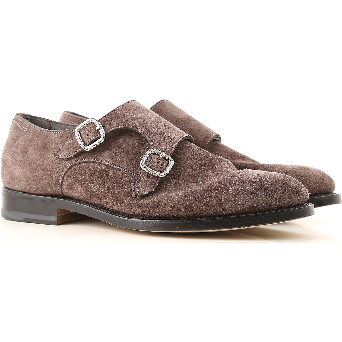 Santoni Brogue Shoes On Sale in Outlet, Brown, Suede leather, 2019, 8 9.5