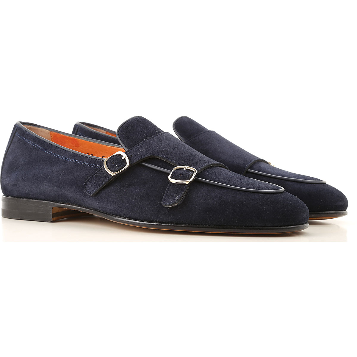 Santoni Loafers for Men, Dark Midnight Blue, suede, 2019, 11 12 8.5