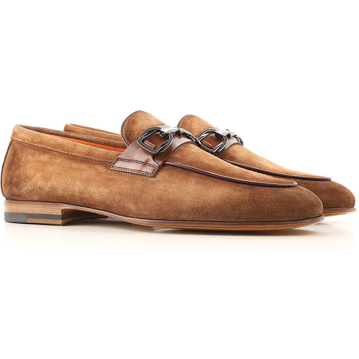 Santoni Loafers for Men On Sale, Brown, Suede leather, 2019, 10 10.5 11 6 7.5 8 8.5 9 9.5
