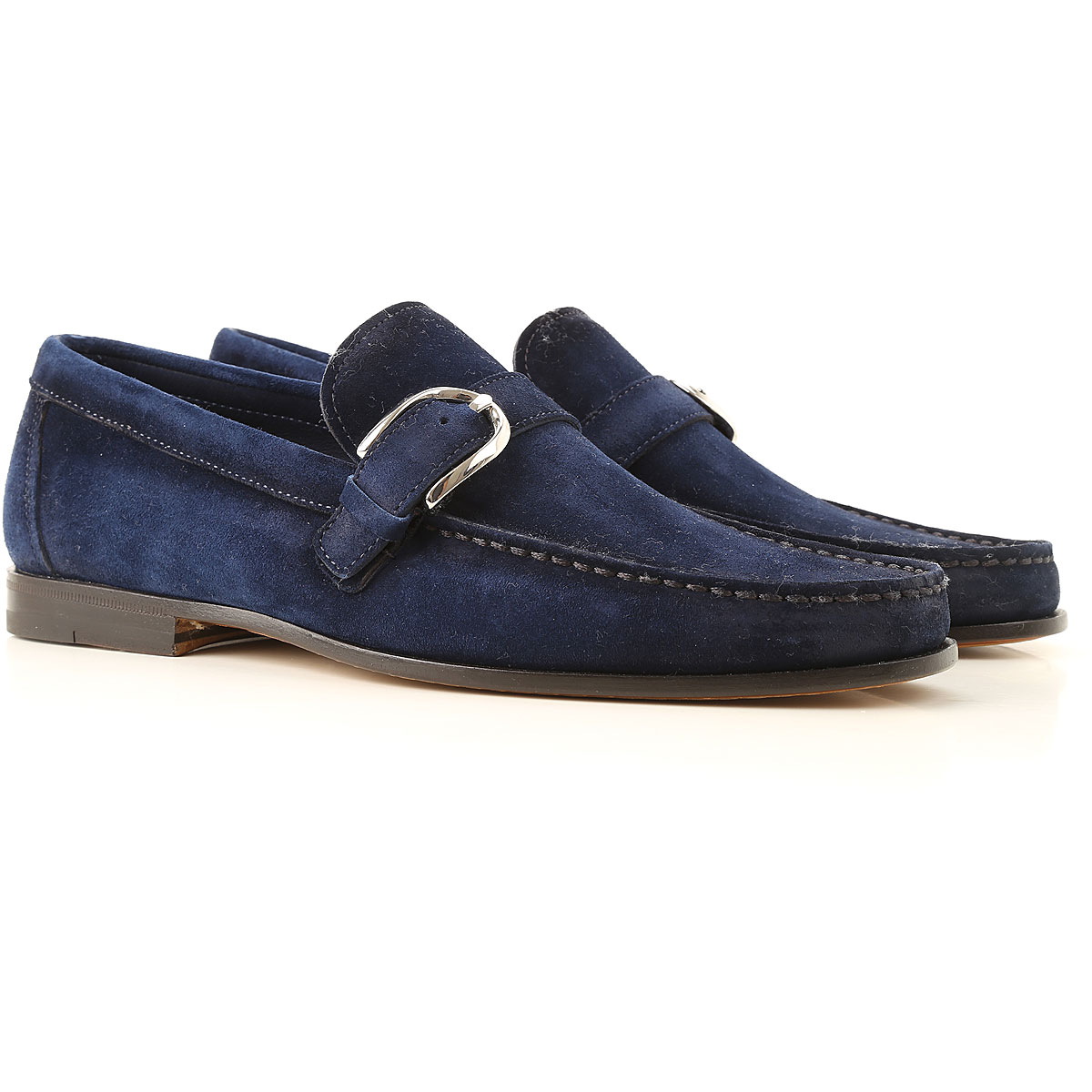 Santoni Loafers for Men On Sale, Bright Blue, Suede leather, 2019, 10 10.5 11 11.5 7 8 8.5 9 9.5