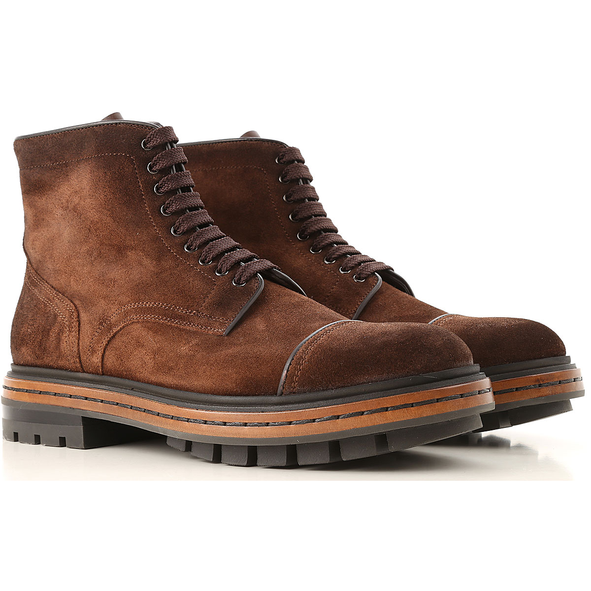 Image of Santoni Boots for Men, Booties, Smoked Brown, suede, 2017, 10 10.5 11 7 7.5 8 8.5 9 9.5