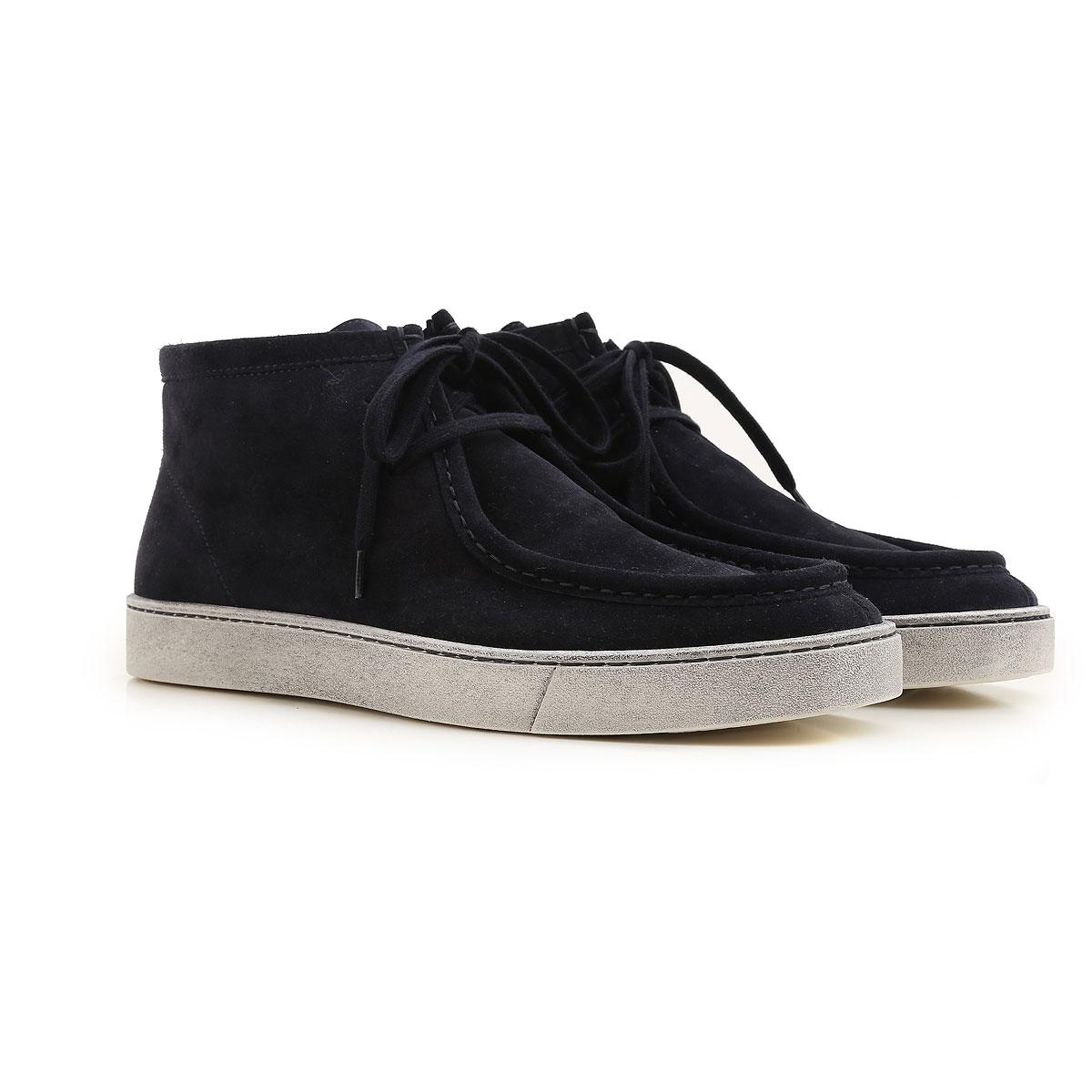 Image of Santoni Boots for Men, Booties, Dark Blue, suede, 2017, 10 10.5 7 8