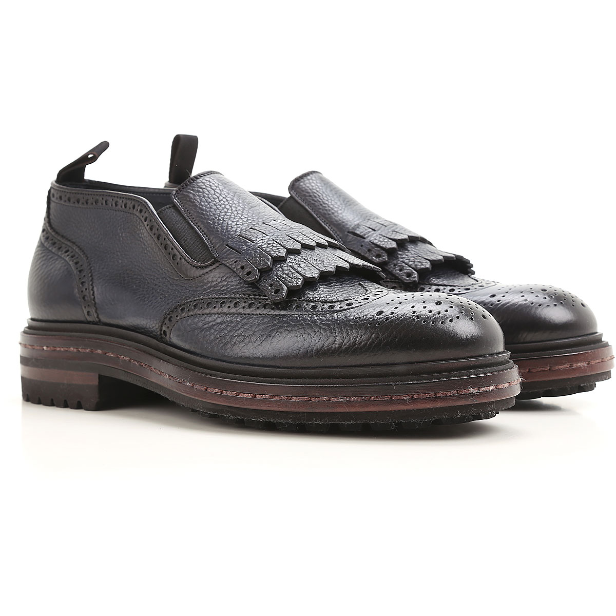 Image of Santoni Driver Loafer Shoes for Men, Shaded Dark Night blue, Leather, 2017, 10 11 11.5 6 8.5