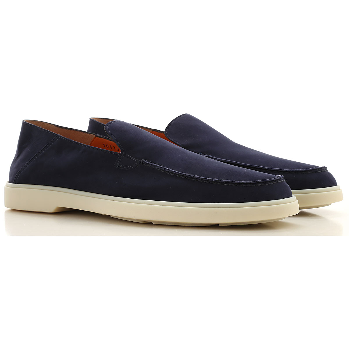 Santoni Slip on Sneakers for Men On Sale in Outlet, navy, Suede leather, 2019, 10 11 12
