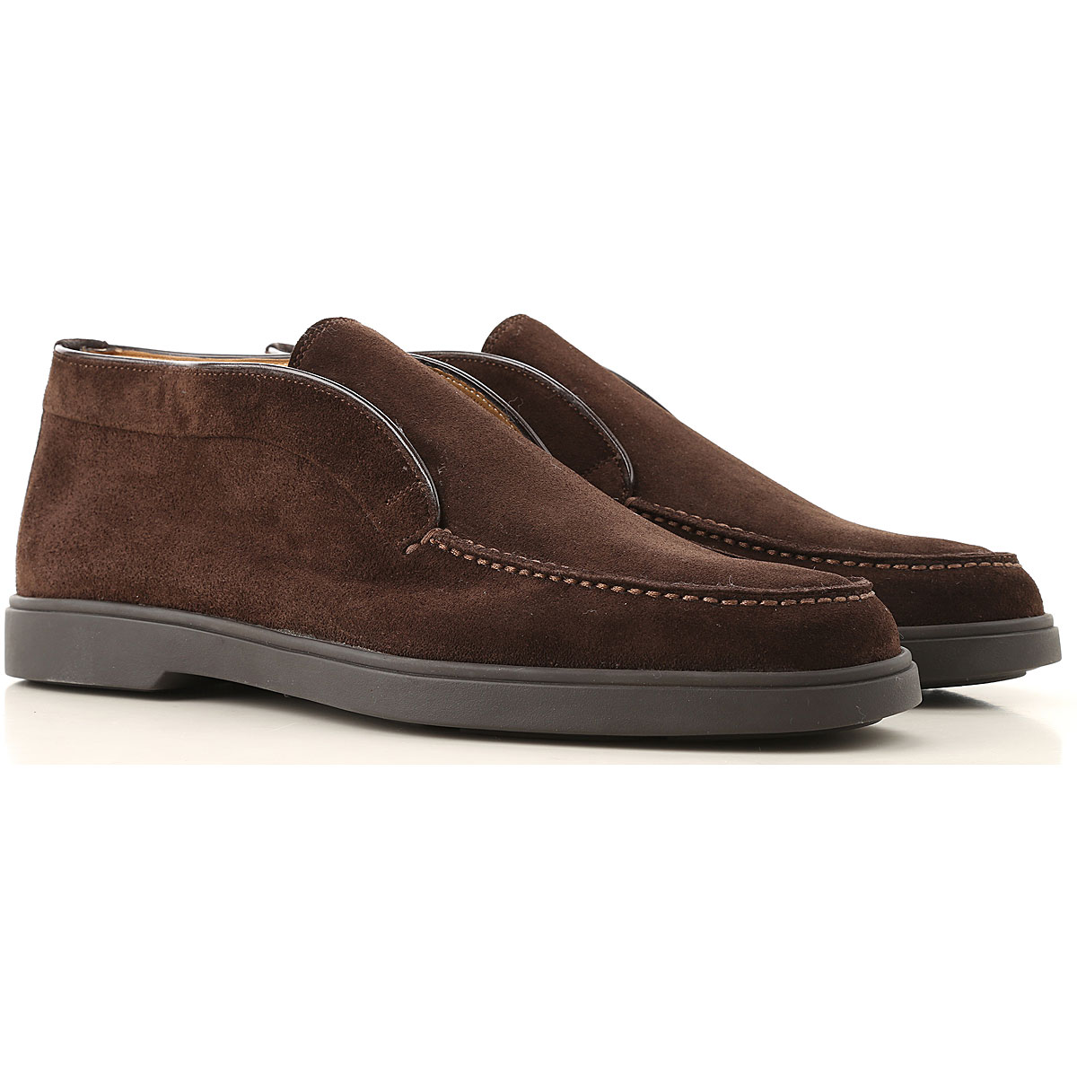 Santoni Desert Boots Chukka for Men On Sale, Dark Brown, Suede leather, 2019, 11 11.5 13 7