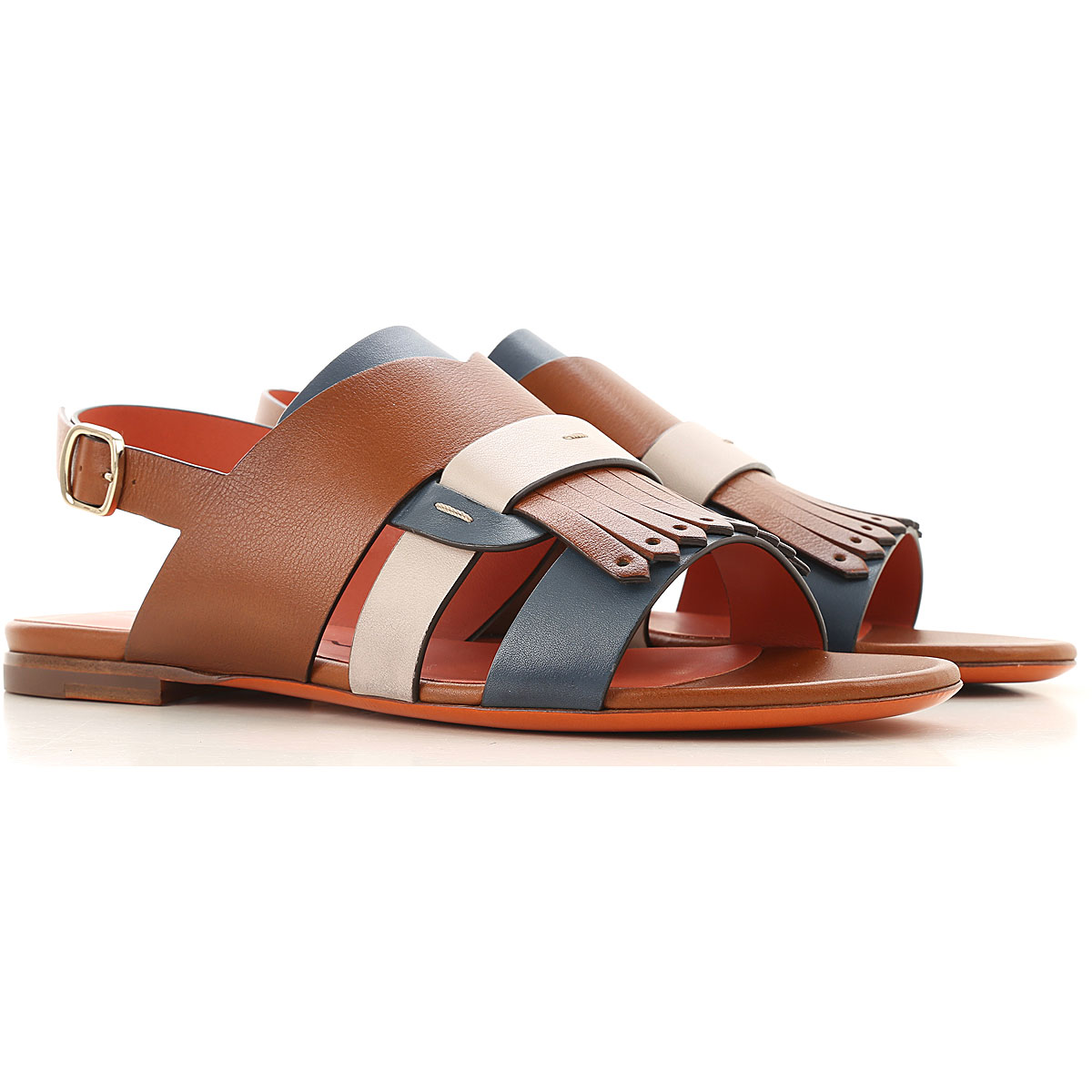 Santoni Sandals for Women On Sale, Leather Brown, Leather, 2019, 10 11 6 7 8