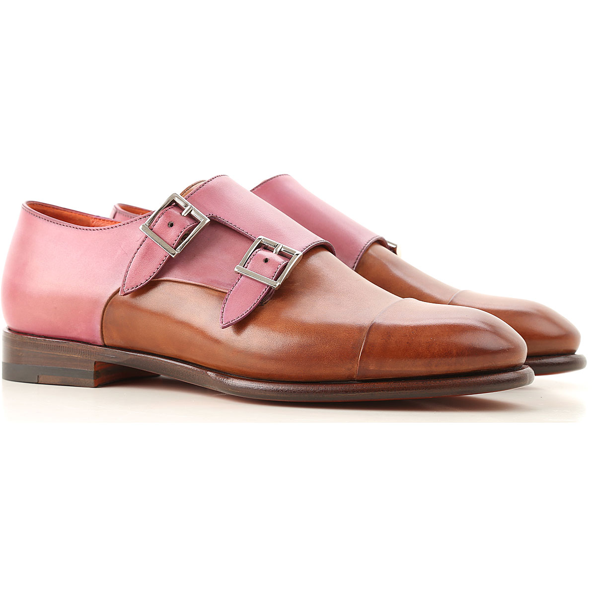 Santoni Oxford Lace up Shoes for Women On Sale in Outlet, Copper Brown, Leather, 2019, 6 7