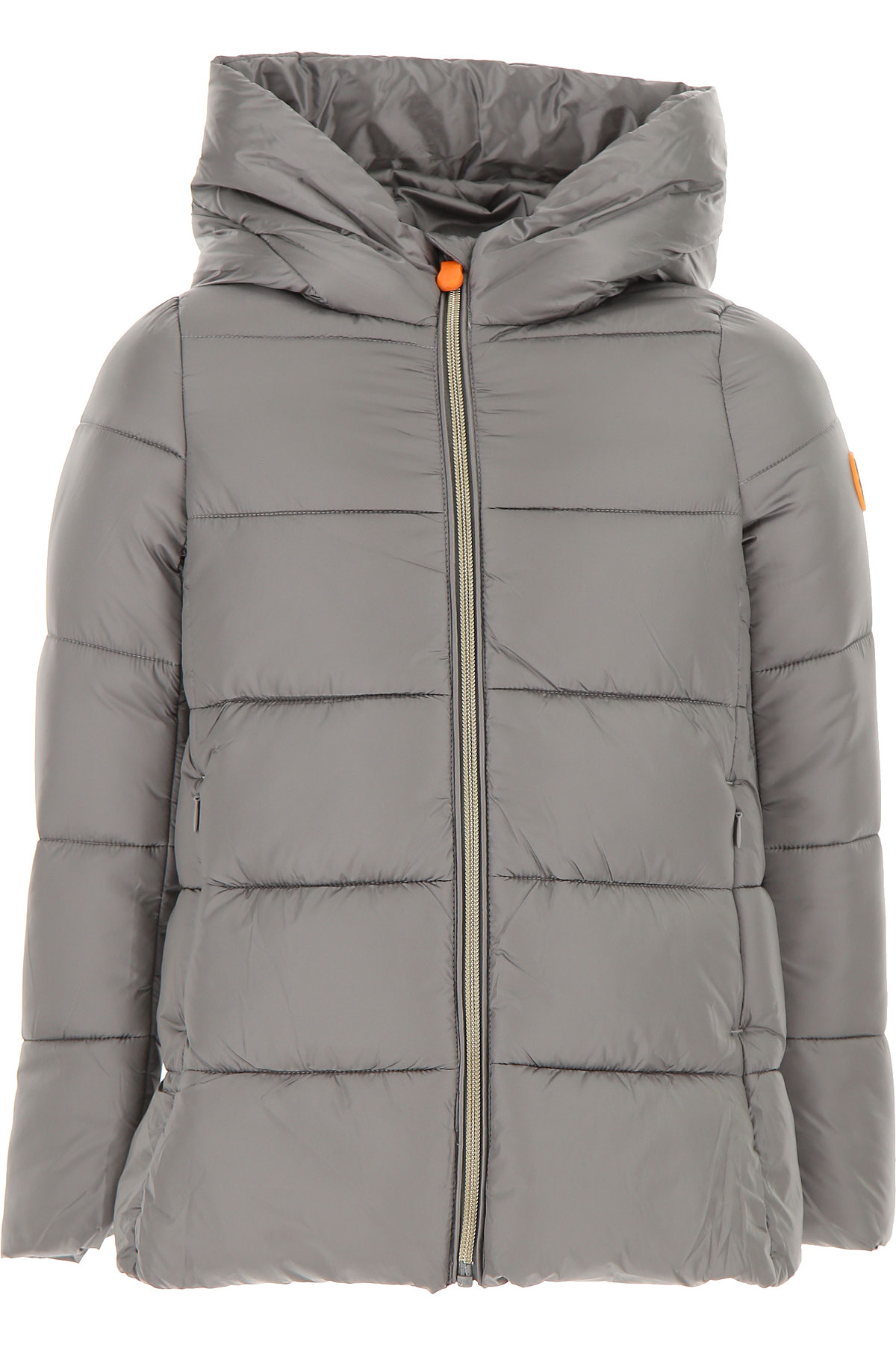 Save the Duck Girls Down Jacket for Kids, Puffer Ski Jacket On Sale, Mid Grey, Nylon, 2019, 10Y 14Y 2Y