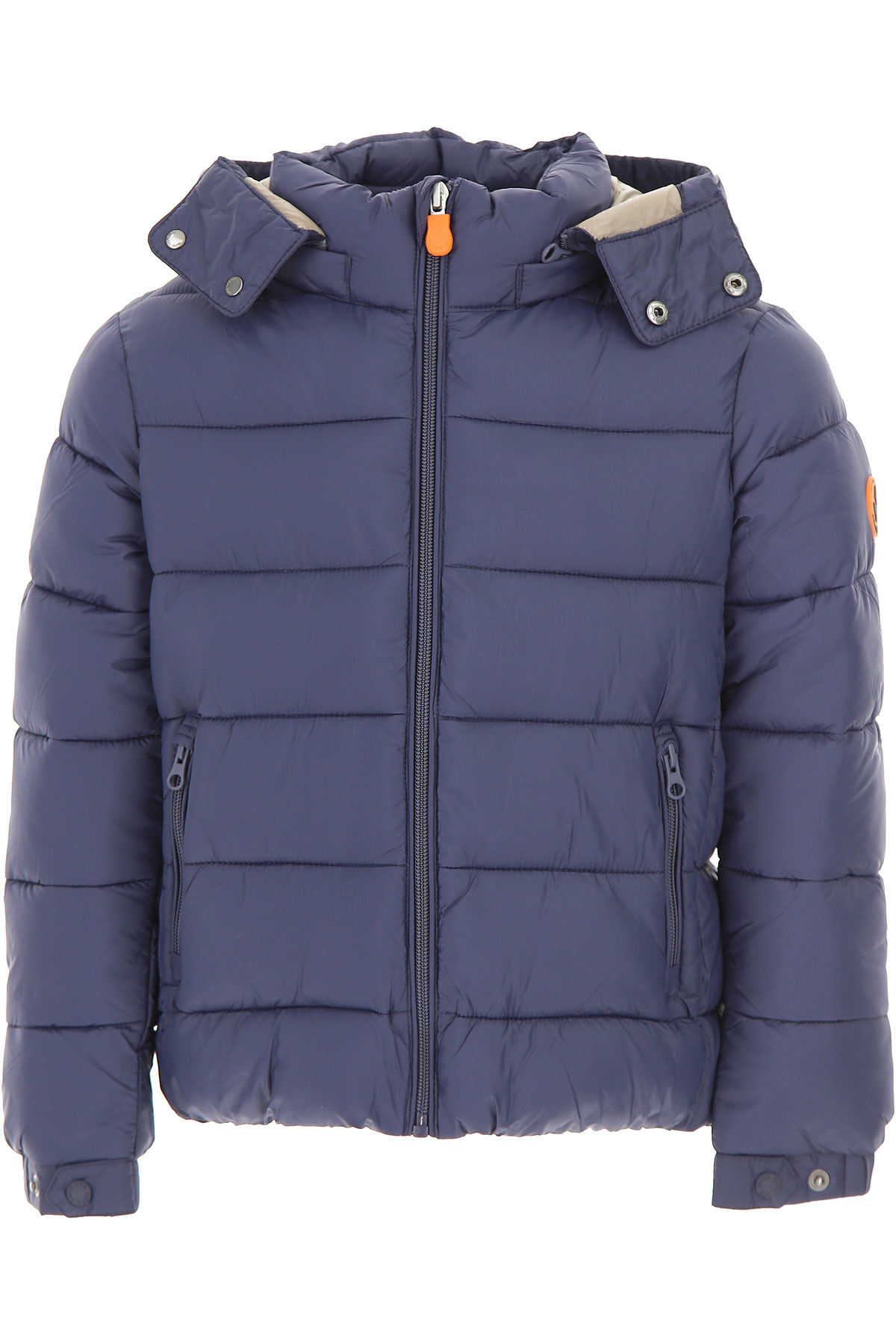 Image of Save the Duck Boys Down Jacket for Kids, Puffer Ski Jacket, Blue Navy, polyester, 2017, 10Y 2Y 4Y 8Y