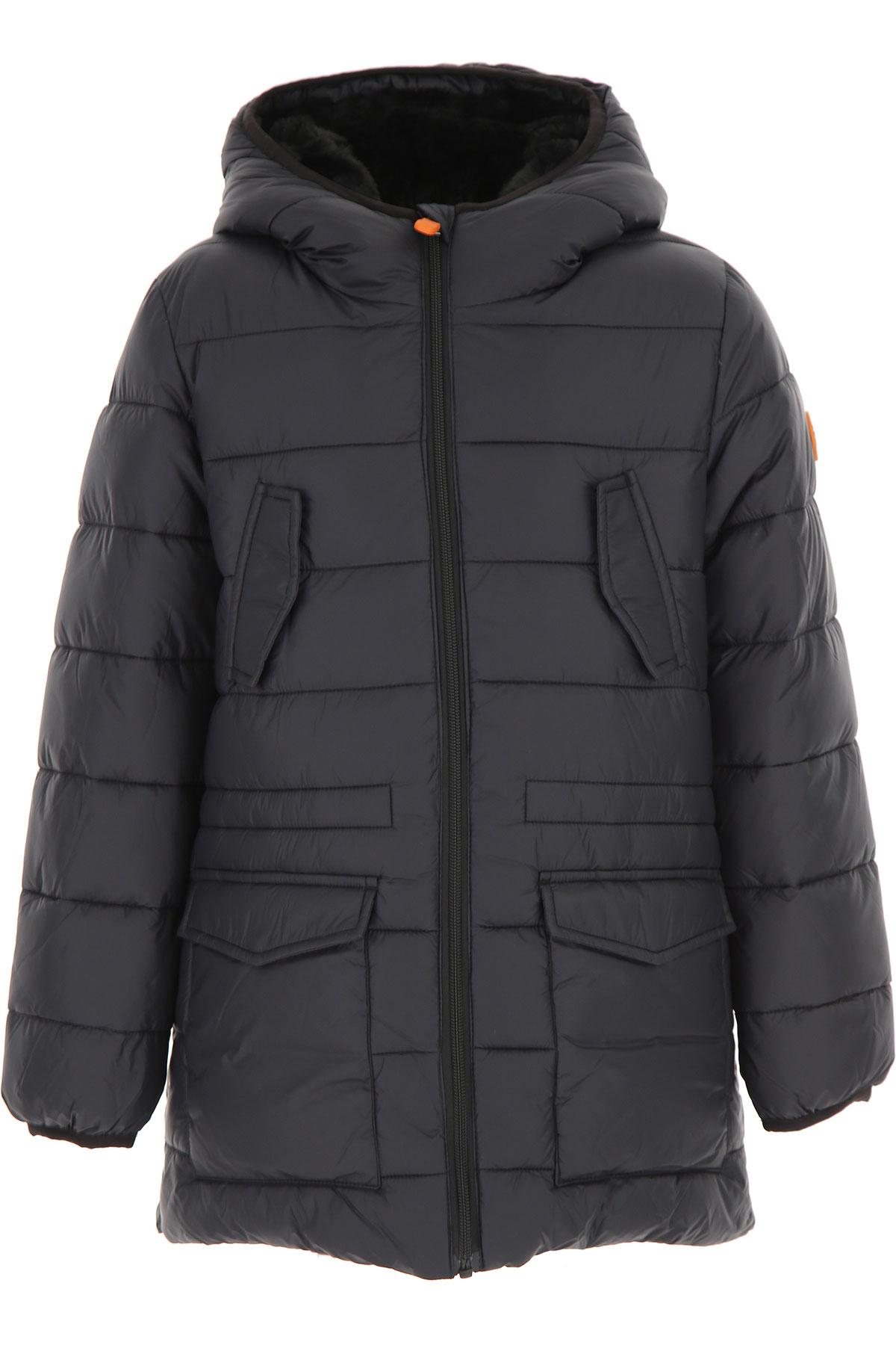 Image of Save the Duck Boys Down Jacket for Kids, Puffer Ski Jacket, Black, Nylon, 2017, 10Y 14Y 16Y 2Y 4Y 6Y 8Y