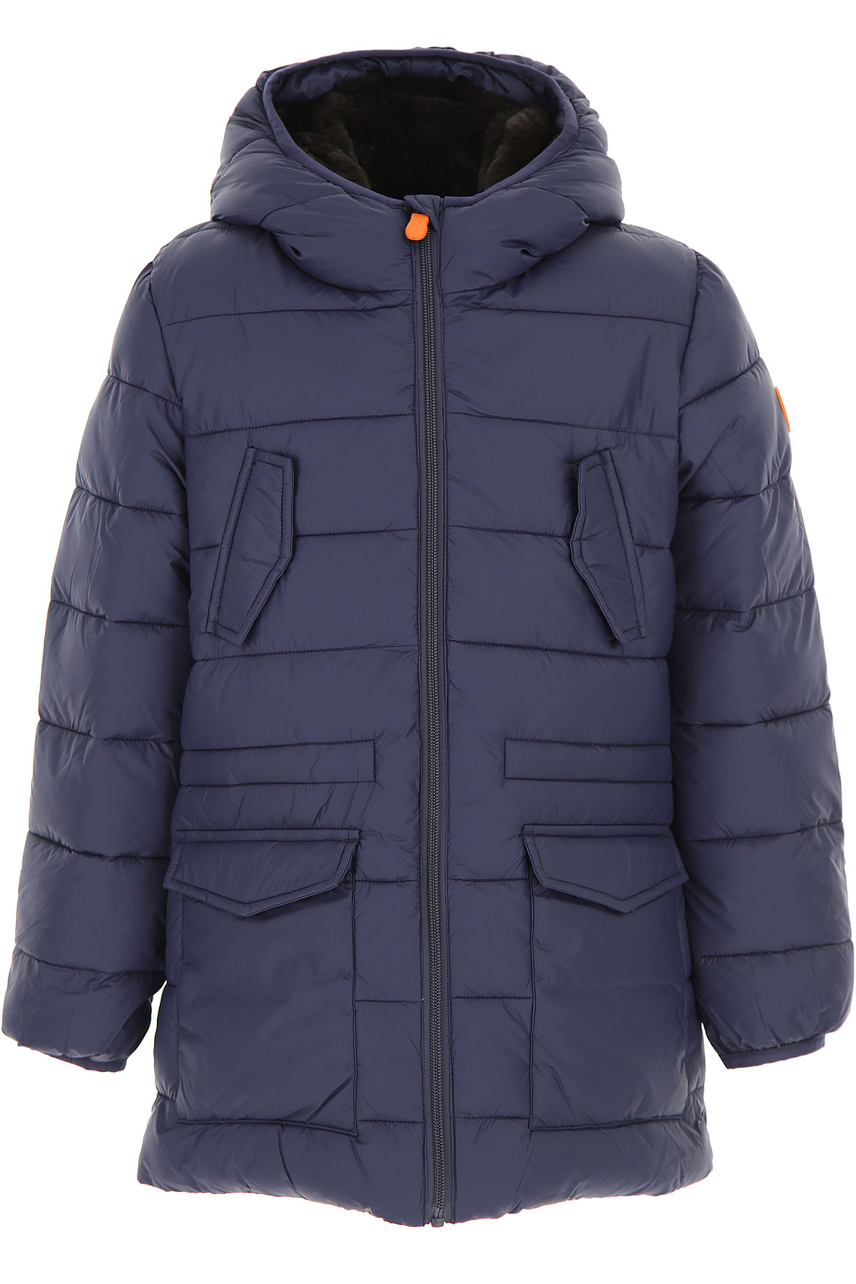 Image of Save the Duck Boys Down Jacket for Kids, Puffer Ski Jacket, navy, Nylon, 2017, 10Y 16Y 2Y 4Y 6Y 8Y