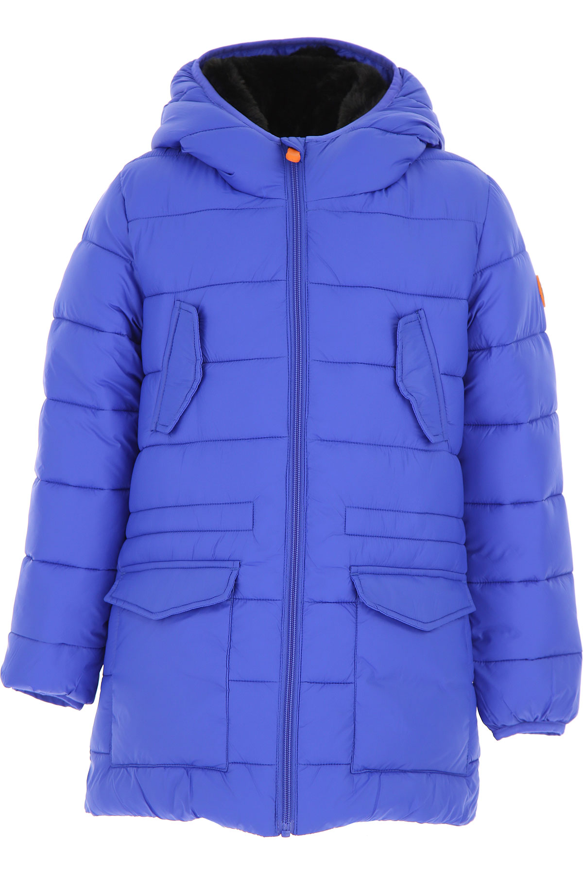 Image of Save the Duck Boys Down Jacket for Kids, Puffer Ski Jacket, Blue, Nylon, 2017, 10Y 14Y 16Y 2Y 4Y 6Y 8Y