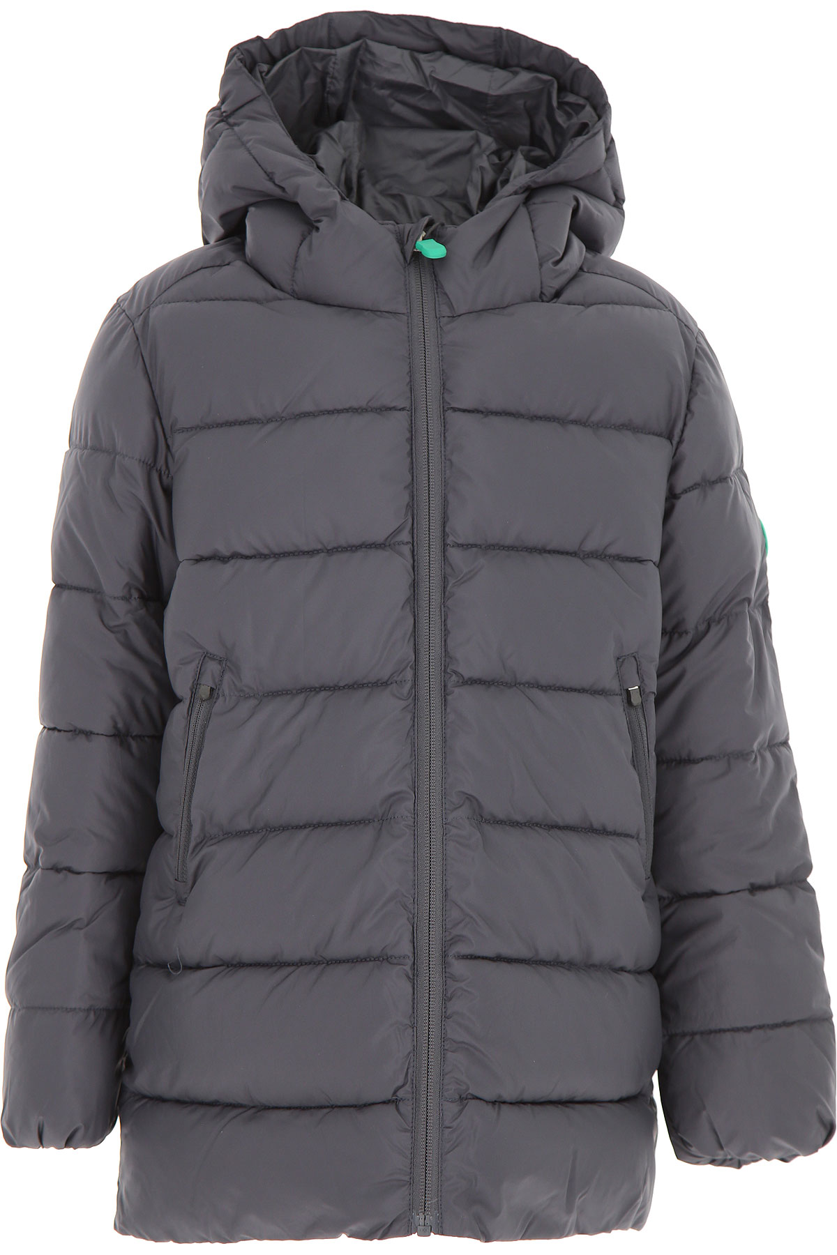 Save the Duck Boys Down Jacket for Kids, Puffer Ski Jacket On Sale, Ebony Grey, Polyester Recycled, 2019, 10Y 12Y 4Y 8Y