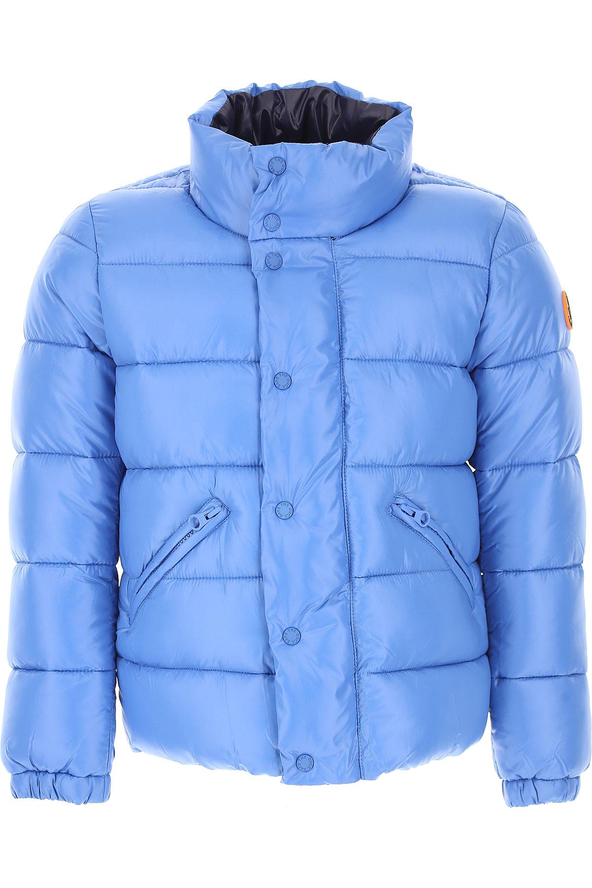 Image of Save the Duck Boys Down Jacket for Kids, Puffer Ski Jacket, iceberg blue, Nylon, 2017, 10Y 4Y 6Y 8Y
